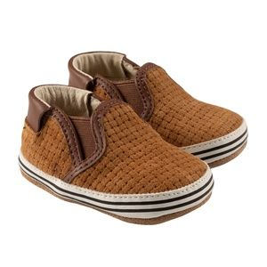 Robeez Baby Shoes - Tan Weave - 9-12m